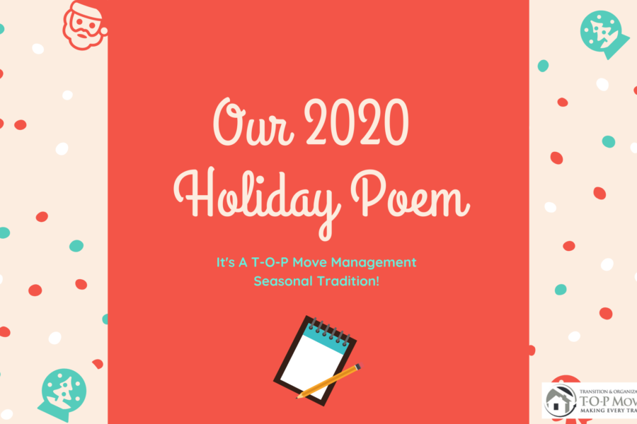2020 T-O-P Move Management Holiday Poem